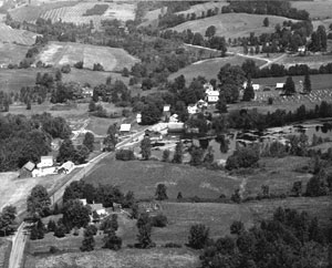 aerial view of Butler 1950