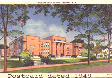 Postcard of Newark NY High School 1949