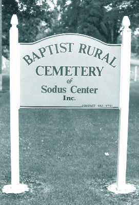Baptist Rural Cemetery Sign
