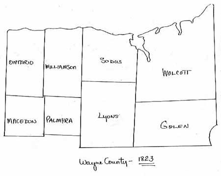 Wayne County NY Town Boundary Maps